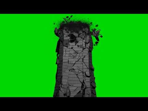 FREE HD Green Screen BUILDING COLAPSING