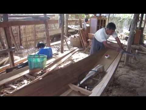 Boatbuilding at Inle Lake, Myanmar