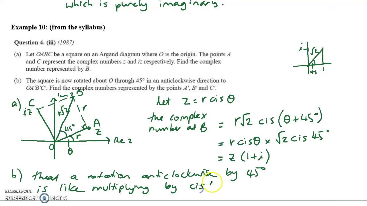 X2 complex 2 argand diagram example 10 youtube x2 complex 2 argand diagram example 10 pooptronica Choice Image