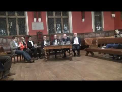Michael Howard, Theo Paphitis, Victor Blank and Peter de Savary speak to the Oxford Guild