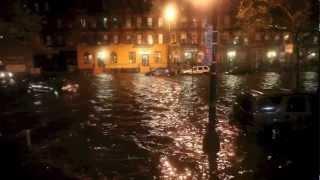 Hurricane Sandy. East Village. New York City. 2012