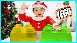 크리스마스 100만원 어치 장난감 선물 받다!! 거대선물박스 개봉기  레고 장난감 거대 레고 젤리 lego jelly