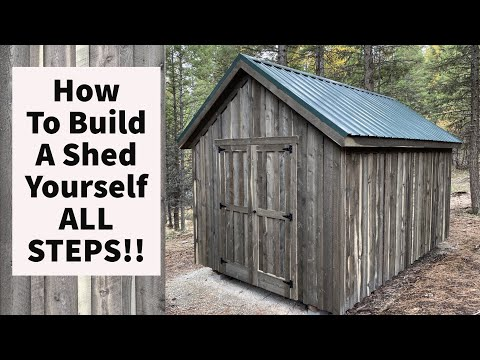 How To Build A 10×16 Shed By Yourself All STEPS