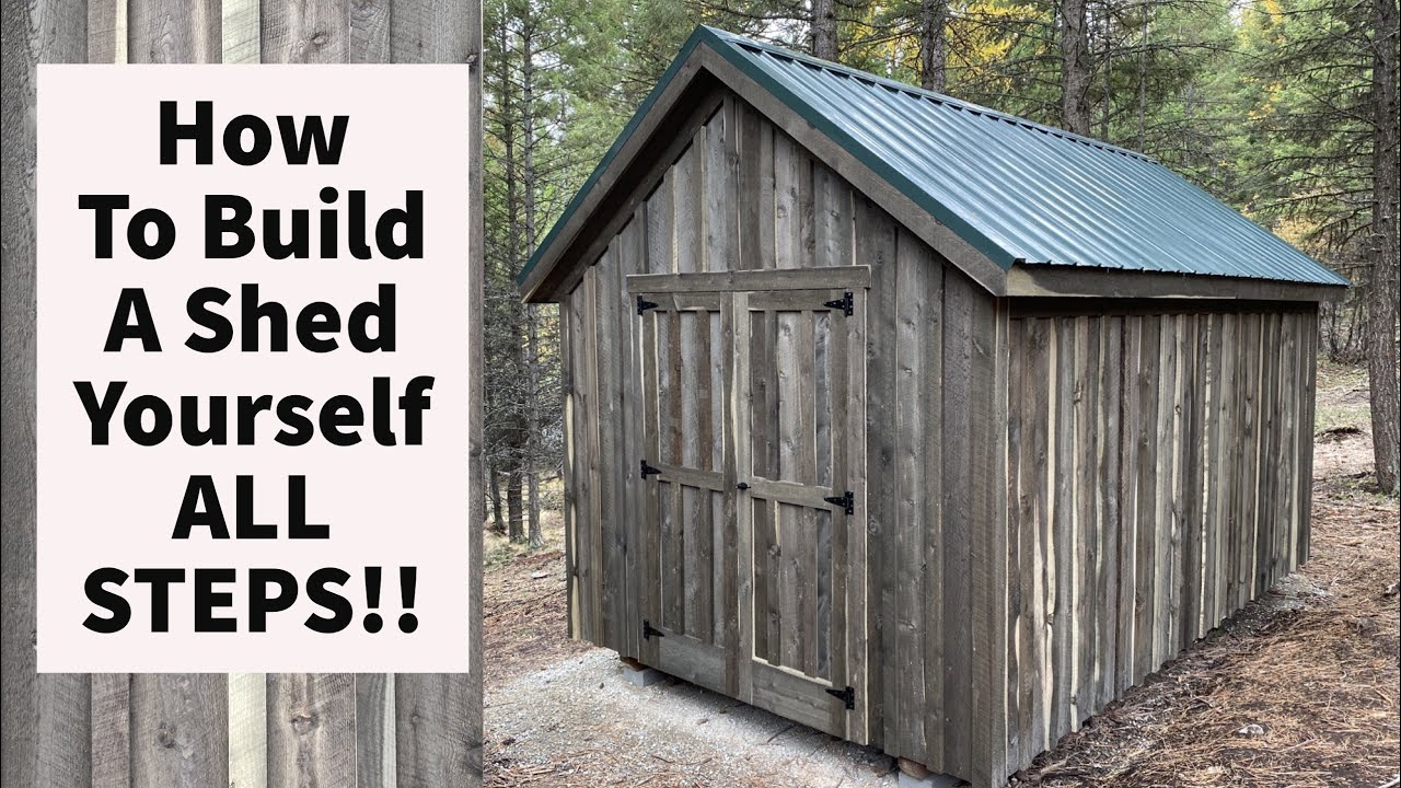 Download How To Build A Shed By Yourself All STEPS 10x16
