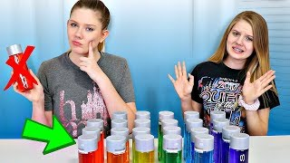 Don't Choose the Wrong Water Bottle Slime Challenge