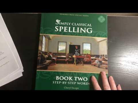 Memoria Press Simply Classical Spelling Book 2 Flip Through