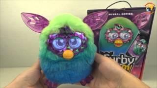 Furby Boom Кристал Зелено Голубой Ферби Кристалл   обзор игрушки Furby Boom Crystal Series