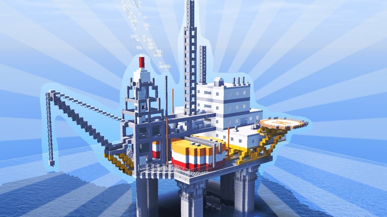 How To Build an Oil Platform in Minecraft (CREATIVE BUILDING) [Oil rig]