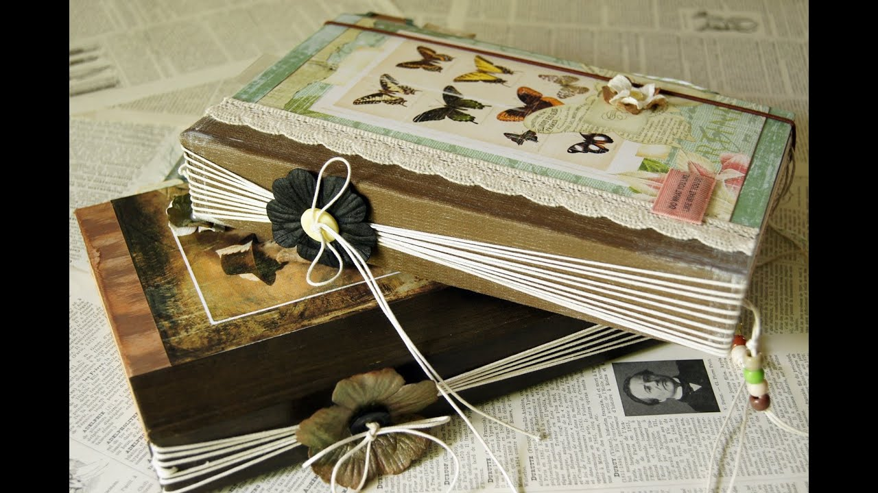 How To Make A Removable Book Cover : Easy twine binding junk journal youtube