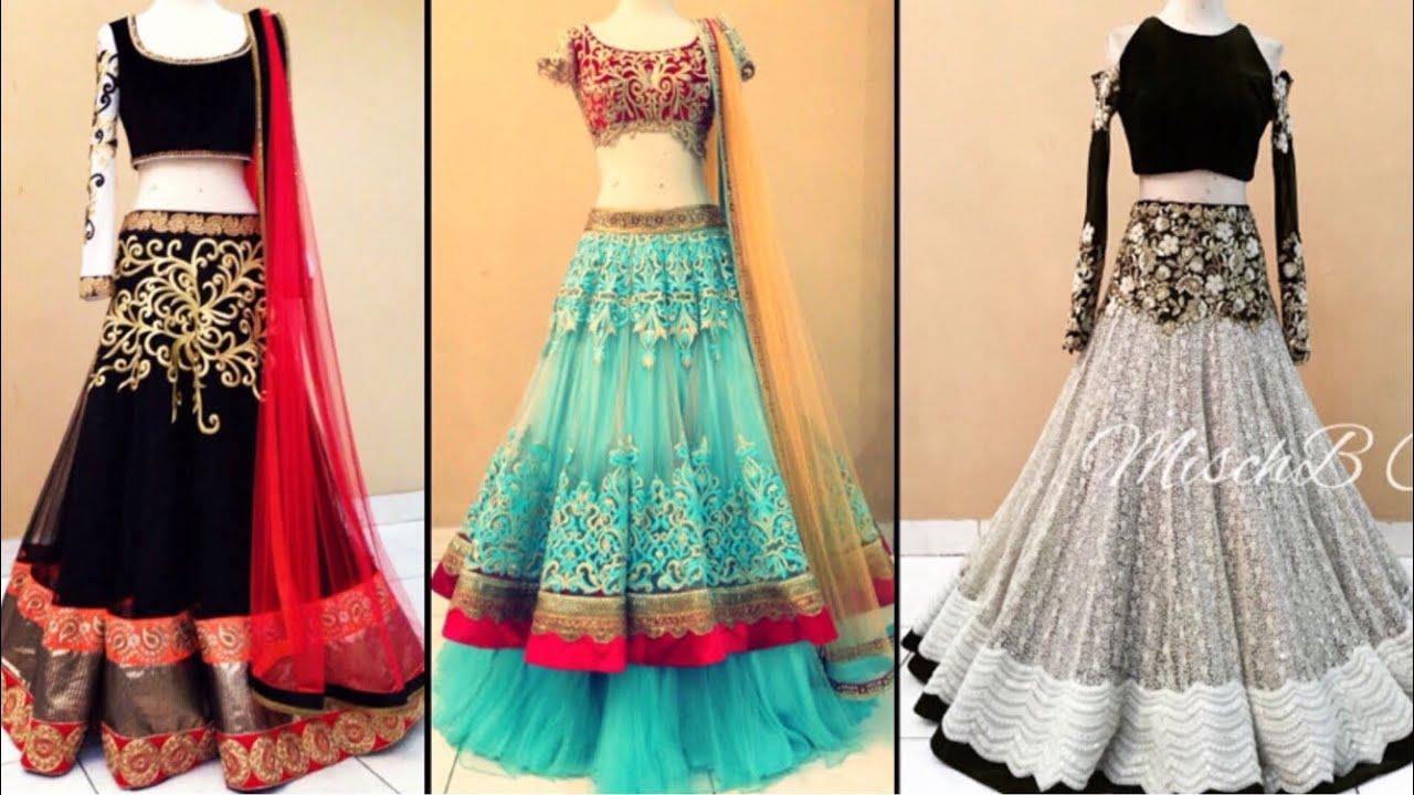f247b97da6 Beautiful heavy embroidered lehenga design ideas for Bridesmaid/Lehenga  design ideas for engagement