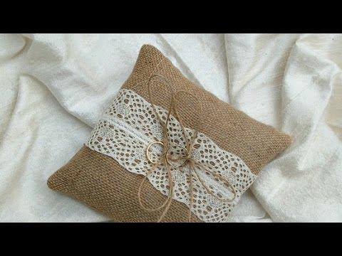 burlap-wedding-pillows