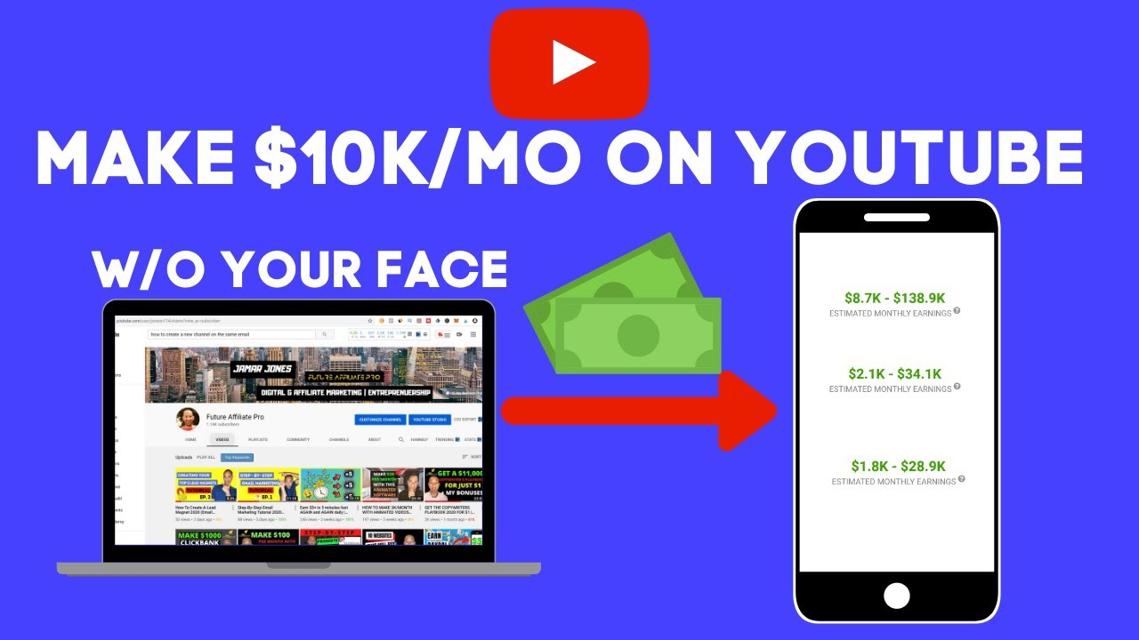 HOW TO MAKE $10K/MONTH ON YOUTUBE WITHOUT SHOWING YOUR FACE (VERY EASY AND FREE METHOD 2020)