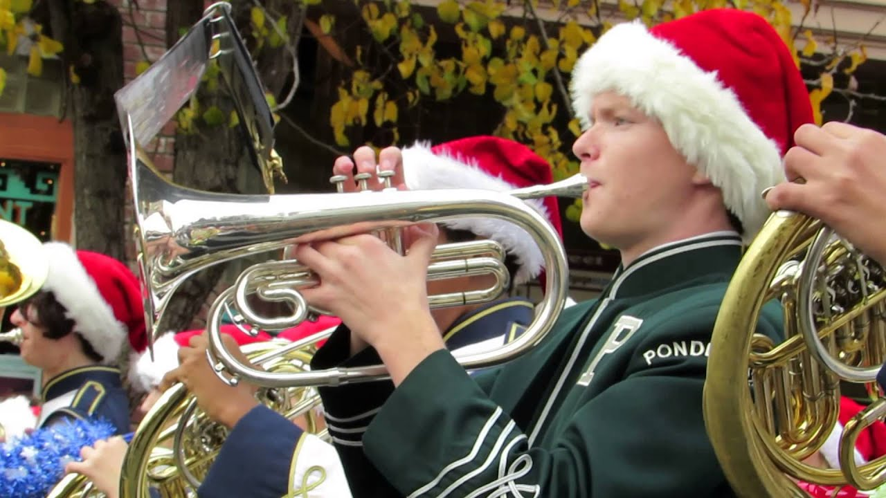 2014 MAIN STREET Placerville Christmas Parade Marching Band - YouTube