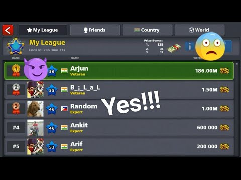 How to top my league with Low wining!!]  8 BALL POOL