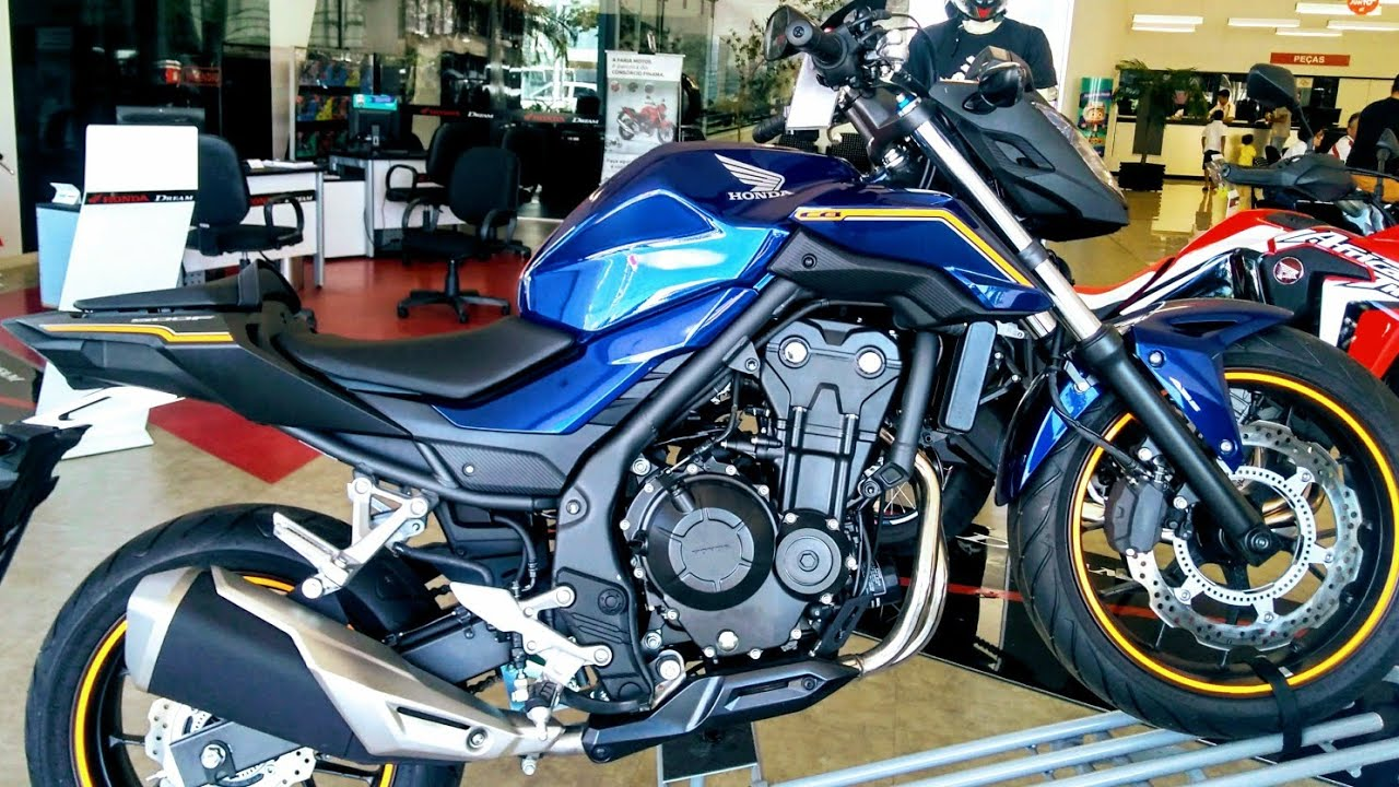 nova honda cb500f 2018 azul pre o detalhes e especifica es youtube. Black Bedroom Furniture Sets. Home Design Ideas