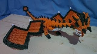 How To Make a 3D Origami Dragon (No.1)