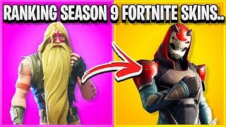 RANKING EVERY SEASON 9 SKIN IN FORTNITE FROM WORST TO BEST!