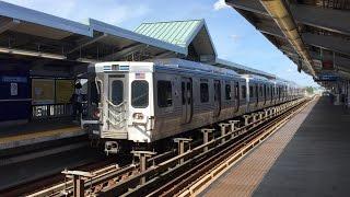 SEPTA HD 60fps: Adtranz M-4 Trains @ 52nd Street Station on Market–Frankford Line 7/11/16