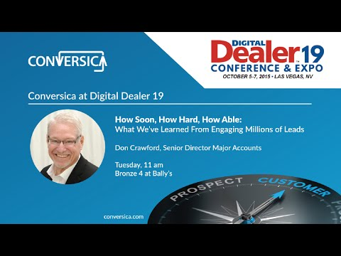 At Digital Dealer 19: What We've Learned From Engaging Millions of Leads