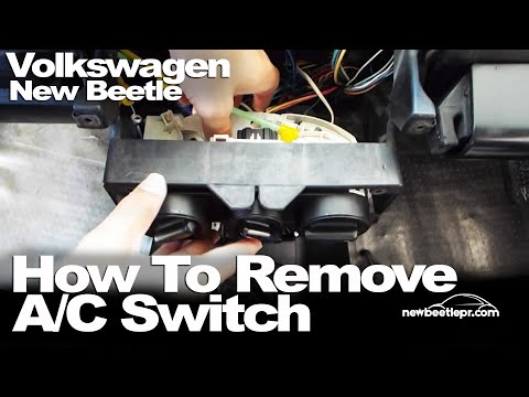 New Beetle - How To Remove A/C Switch