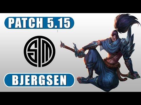 Bjergsen vs Incarnati0n | Yasuo vs Leblanc | Mid | Season 5 | Patch 5.15 | LoL Replay