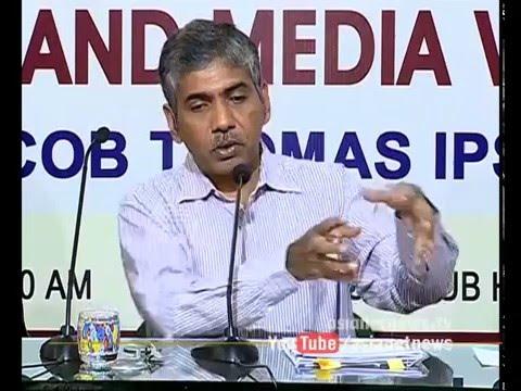 DGP Jacob Thomas Press meet against Oommen Chandy