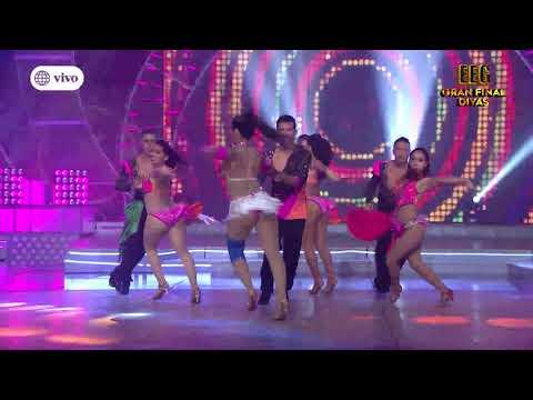 Daniela Darcourt e Isabel Acevedo bailaron salsa en la final de Divas EEG