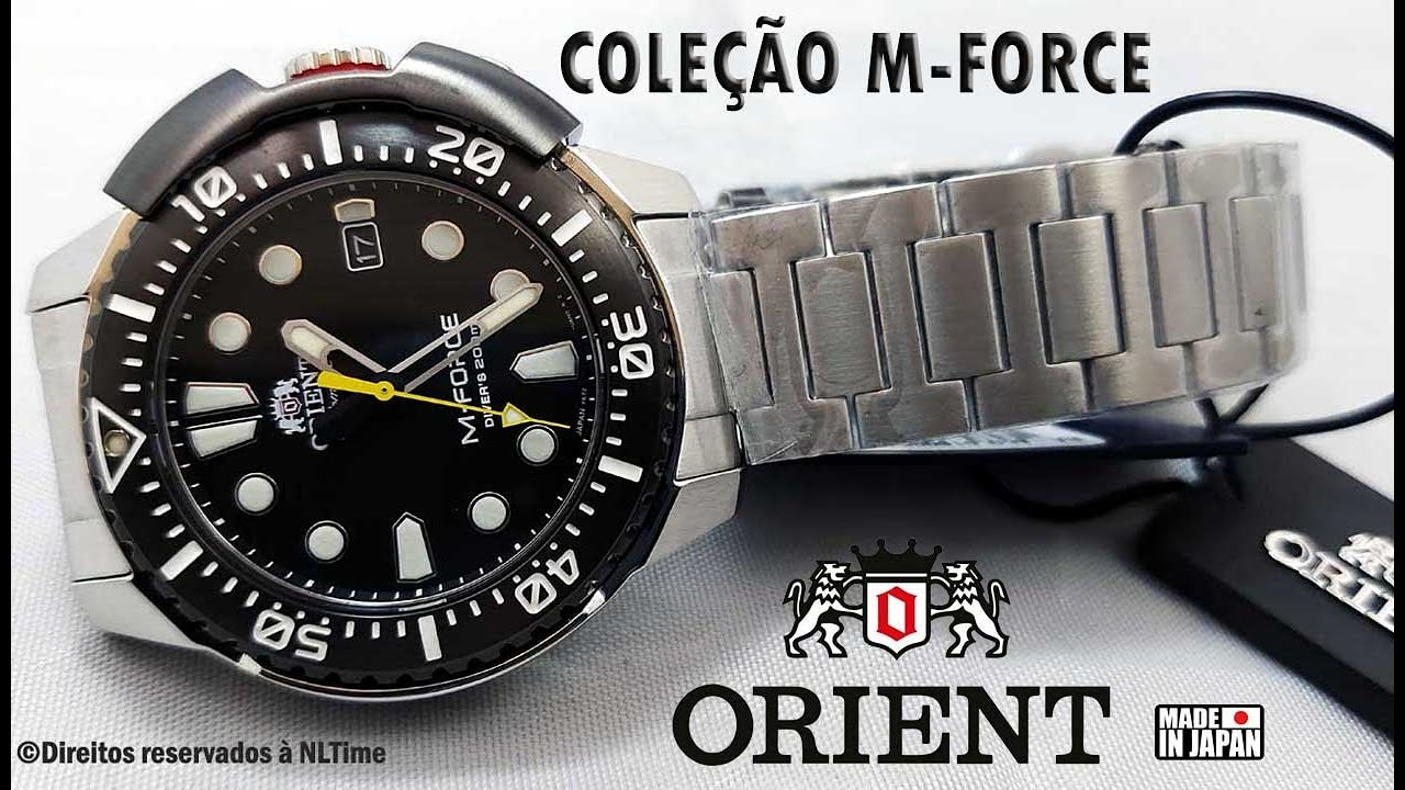 Relógio Masculino Automático ORIENT M-FORCE Divers RA-AC0L01B00B Made in Japan ★★★★★