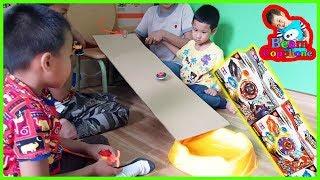 น้องบีม | รีวิวของเล่น EP121 | ลูกข่างสไลเดอร์กล่องกระดาษ Toys