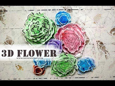 DIY PAPER FLOWERS - HANDMADE FLOWER - DIY EMBELLISHMENTS FOR SCRAPBOOKING♥handmade gifts and decor