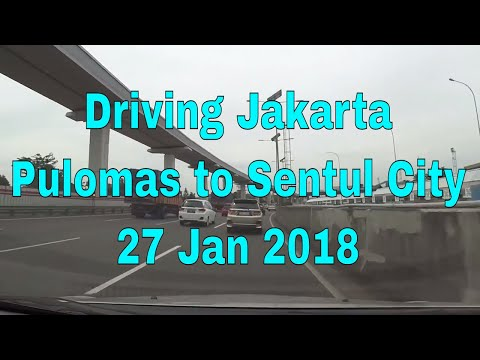 Driving Jakarta (Indonesia) - Pulomas to Sentul City / Saturday 27 January 2018