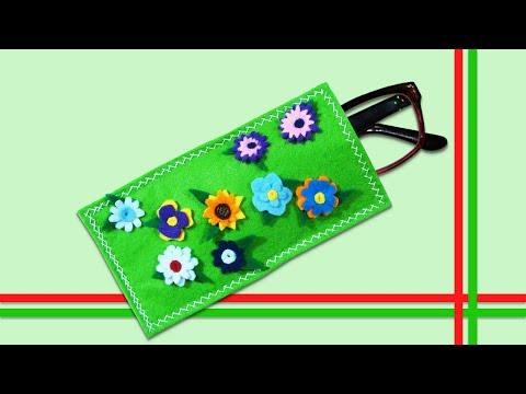 Видео: ✂ Подарки своими руками    Футляр для очков подарок бабушке - очечник из фетра.