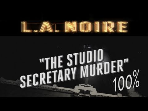 LA Noire - Walkthrough Part 8 The Studio Secretary Murder Gameplay