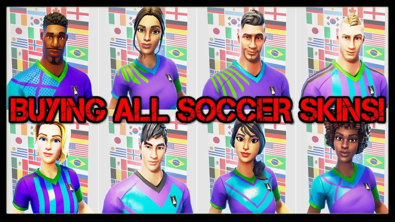 Buying All New Soccer Skins 15 000 V Bucks Customize Your New