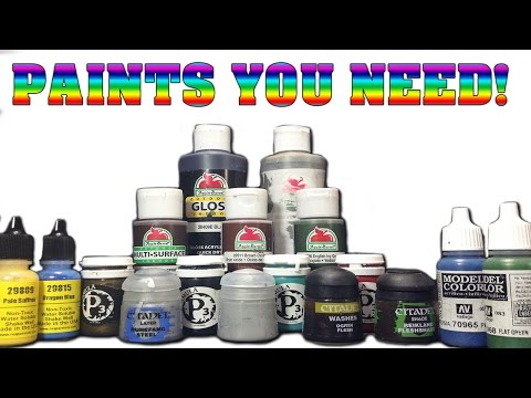 The Best Paints For Your Miniatures