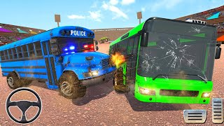 Police Bus Demolition Derby - Police Bus Simulator Game - Android Gameplay screenshot 1