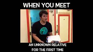 ashish chanchlani vines new video😲|When You meet an unknown relative for the first time