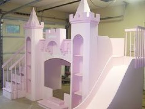 castle bed with slide youtube. Black Bedroom Furniture Sets. Home Design Ideas