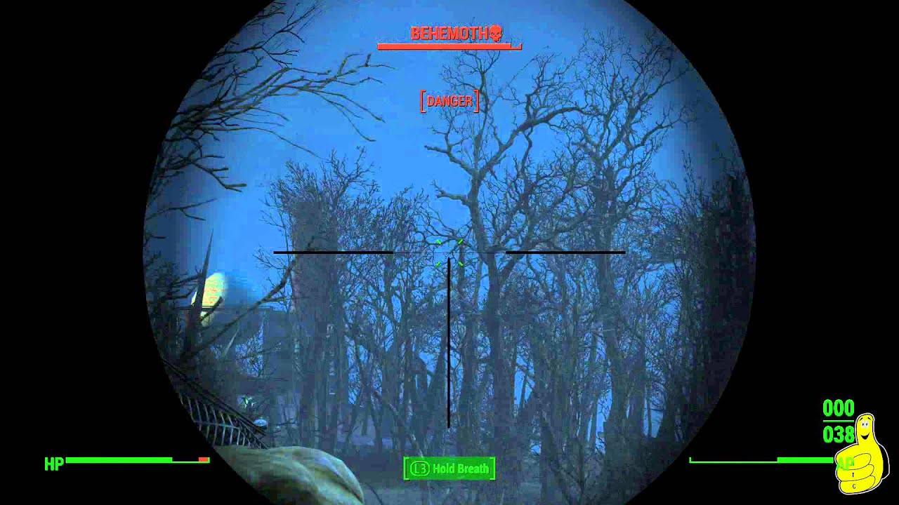 fallout 4 how to easily kill the behemoth walden s pond area