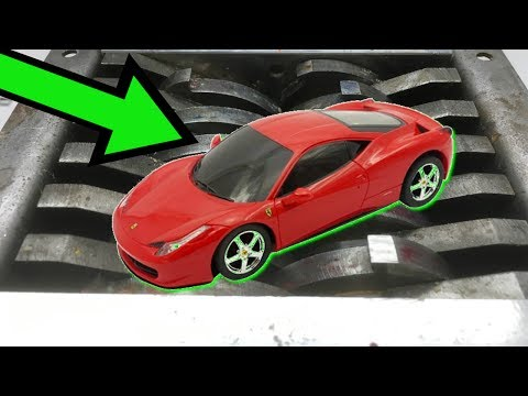 SHREDDING METAL TOY CARS | shredding toys experiment | oddly satisfying things compilation