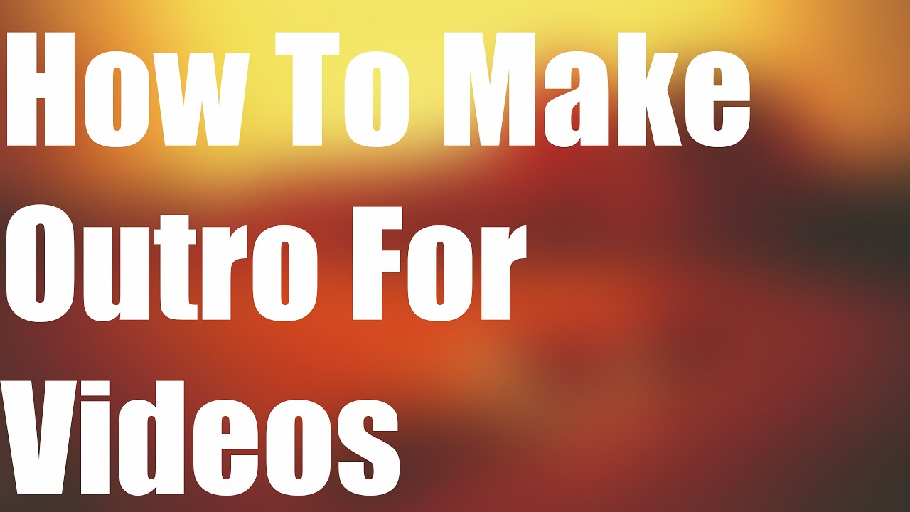 how to make simple youtube videos