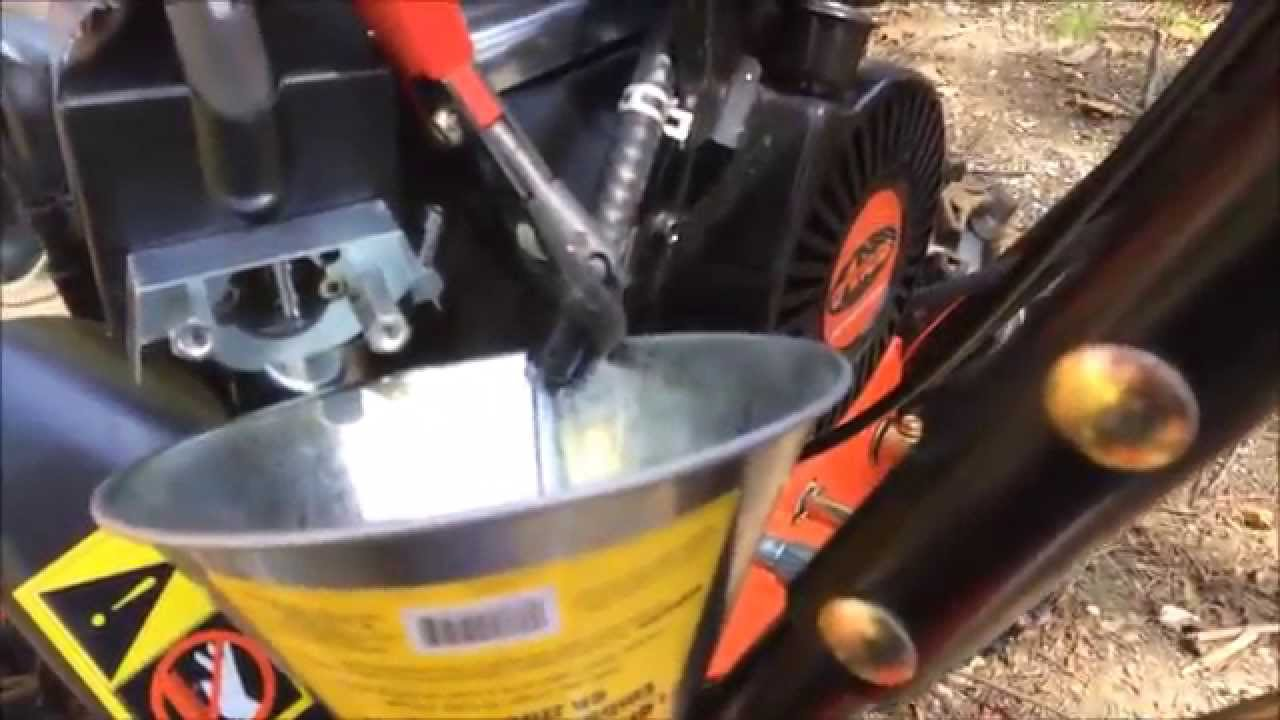 The Half Assed Guide Draining the gas from a 2014 Ariens