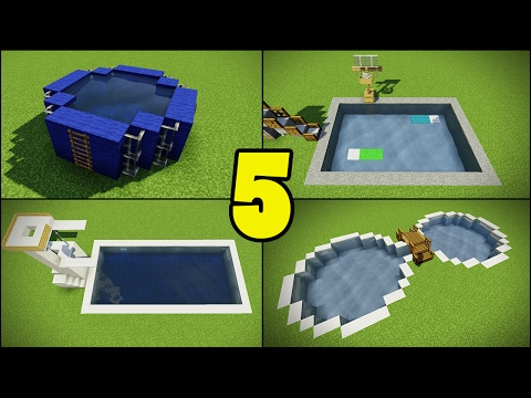 Minecraft How To Build A Pool House Tutorial Doovi