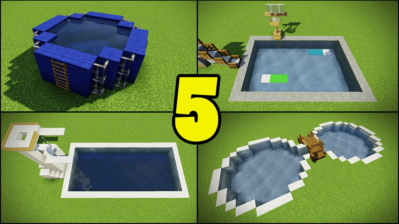 Top 5 Swimming Pool Designs in Minecraft - YouTube