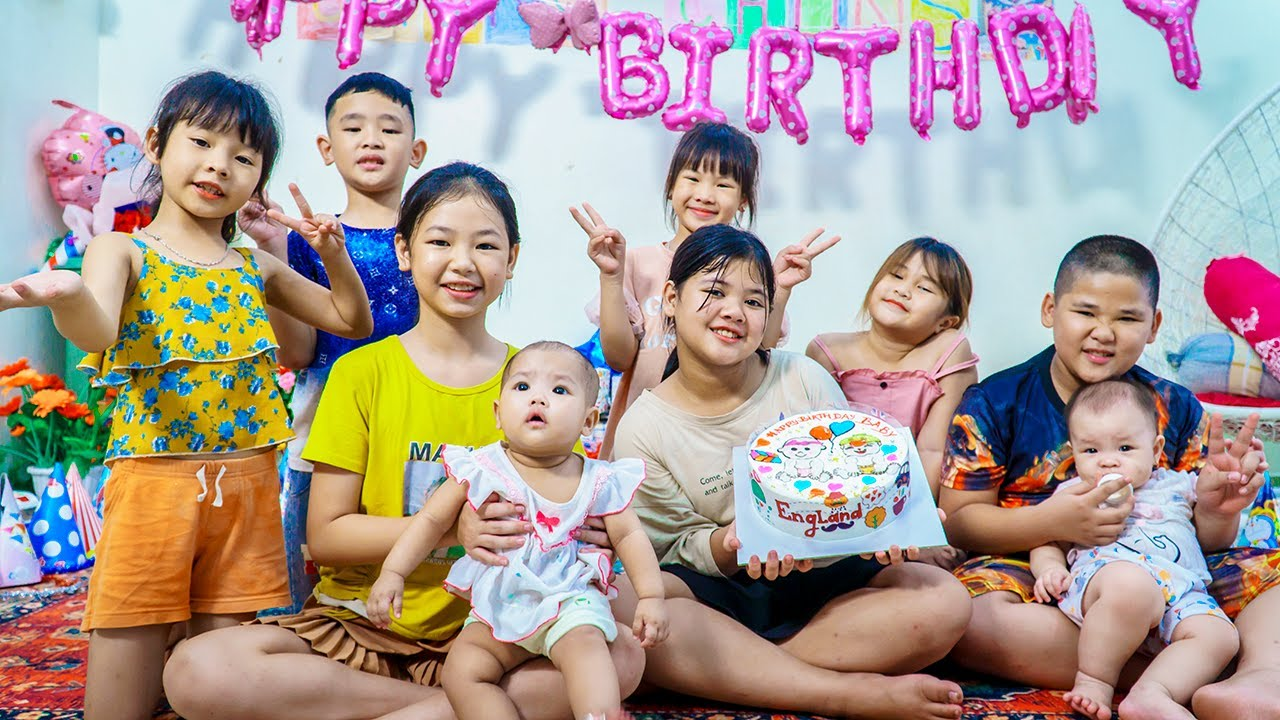 Kids Go To School | Family Chuns Go To The Shop To Make Birthday Cakes EP 3