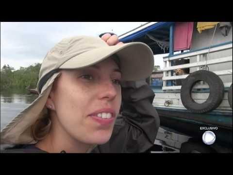 Barco Com A Equipe Do Câmera Record Quebra Em área Isolada Da Floresta Amazônica