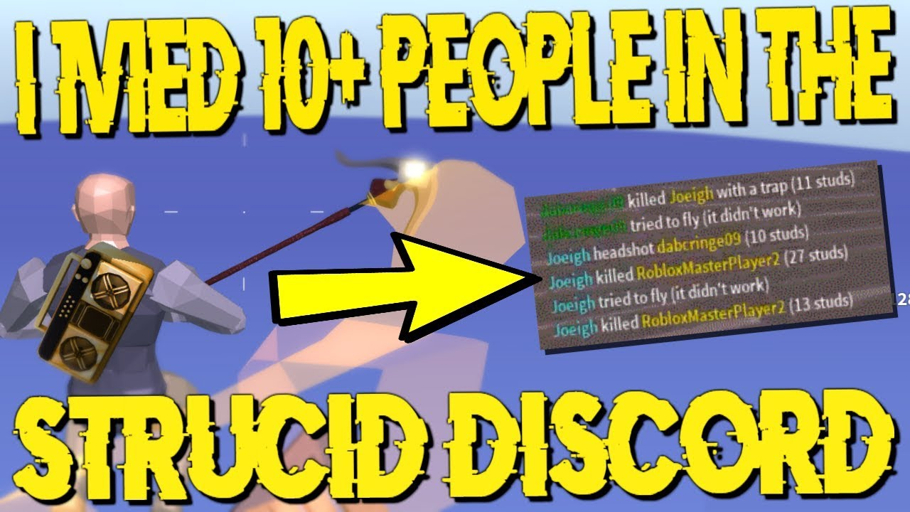I 1v1ed 10 People In The Strucid Discord Crazy Youtube