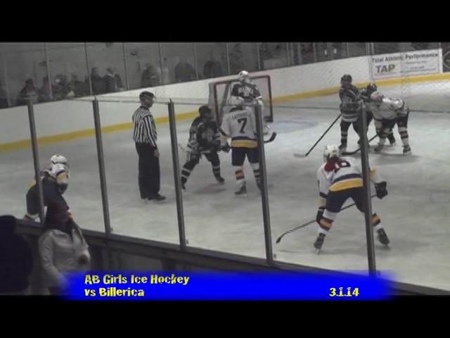 Acton Boxborough Varsity Girls Hockey vs Billerica 3/1/14