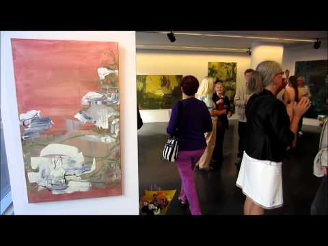 Gallery U - Helsinki, Paula Holopainen Paintings Art Exhibit Opening - Finland