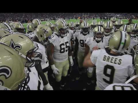 New Orleans Saints Drew Brees QB give his pregame team pep talk